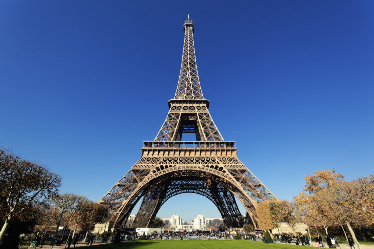 Famous Eiffel tower in Paris with gorgeous colors